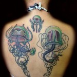Tentacles Jellyfishes tattoo by Transcend Tattoo on Back