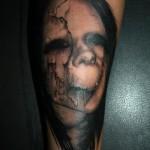 Terrifying Head Graphic tattoo by Piranha Tattoo Supplies