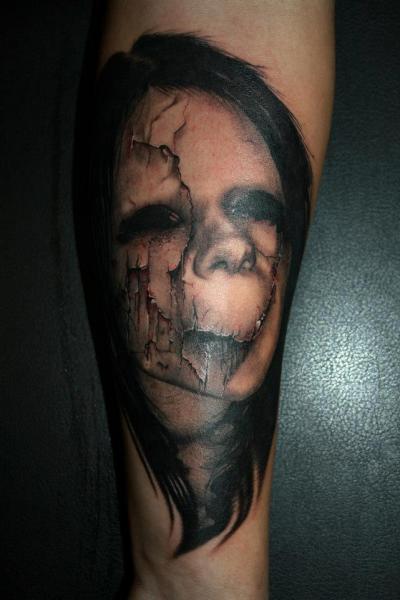 Piranha skeleton tattoo - photo#53