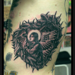 Thorns Heart Angel tattoo by Jack Gallowtree