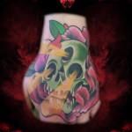 Three Eyes Holes Light Skull tattoo by Hellyeah Tattoos