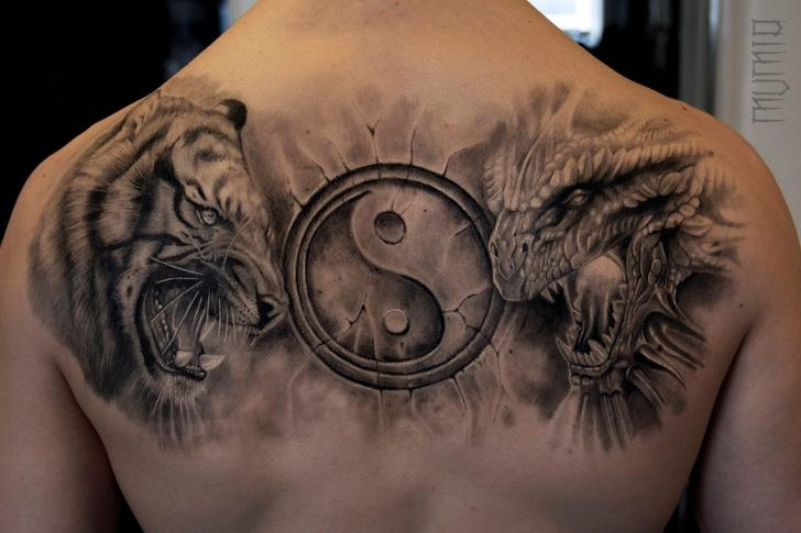 Tiger Dragon Ying Yang Tattoo By Mumia Tattoo Best Tattoo Ideas