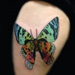 Tiny Butterfly Shoulder tattoo by Transcend Tattoo