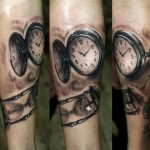 Time Clocks Realistic tattoo by Georgi Kodzhabashev