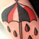 Tiny Heart Umbrella tattoo by Elda Bernardes