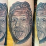 Tongue Einstein Realistic tattoo by Bloodlines Gallery