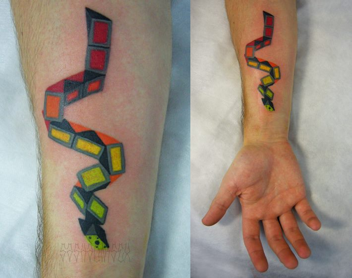 Toy Snake tattoo by Sasha Unisex