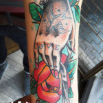 Traditionally Inked Hand tattoo by Elda Bernardes