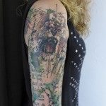 Trash Polka Lion tattoo by Carola  Deutsch