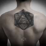 Triangle Ball 3D tattoo by Ien Levin
