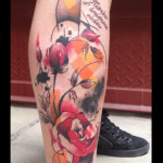 Tulip Red Rose Trash Polka tattoo by Live Two