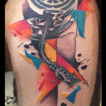 Turntable tattoo by Live Two