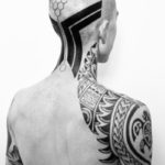 Turtle Shoulder Maori Blackwork tattoo