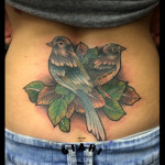 Two Sparrows tattoo by Live Two