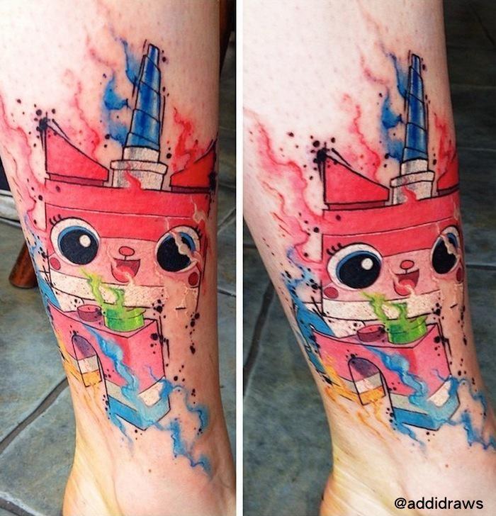Unikitty Aquarelle tattoo by Liisa Addi Kask