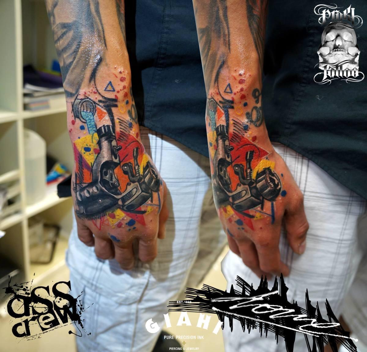 Unloaded Tattoo Machine tattoo by George Drone