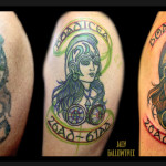 Viking Girl Warrior Cover Up tattoo