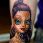 Violet Hair Barbie Doll tattoo by Resul Odabaş