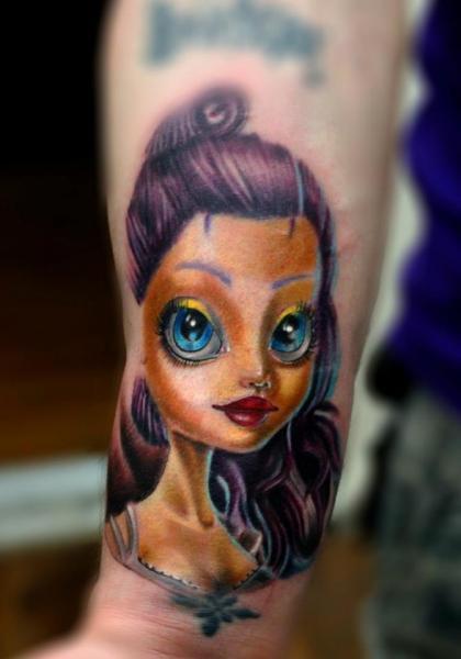Violet Hair Barbie Doll Tattoo By Resul Odabaş Best Tattoo