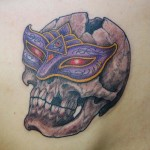 Violet Mask Skull tattoo by Illsynapse