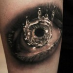 Water Drop Eye Realistic tattoo by Georgi Kodzhabashev