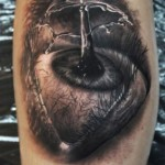Water Splash Eye Realistic tattoo by Georgi Kodzhabashev