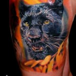 Wet Panther Realistic tattoo by Piranha Tattoo Supplies
