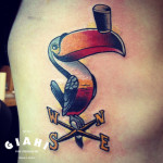 Weather Cock Toucan tattoo by Elda Bernardes