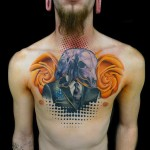 Yellow Roses Texas Chest Piece tattoo by Andres Acosta