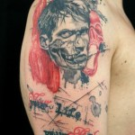 Your Life Your Rules Trash Polka Zombie tattoo by Skin Deep Art
