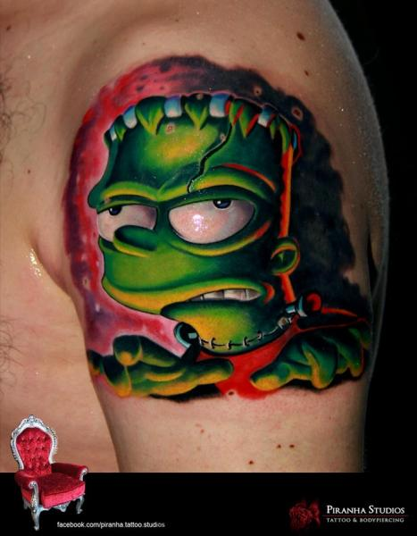 ae6841735 Zombie Bart Simpson tattoo by Piranha Tattoo Supplies | Best Tattoo ...