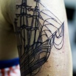 Graphic Giant Ship Nautical tattoo