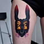 Alice in Wonderland Rabbit tattoo by Marcin Surowiec