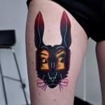 Alice in Wonderland Rabbit tattoo by Marcin Surowiec