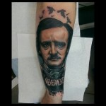Allan Poe Nevermore tattoo by Jethro Wood