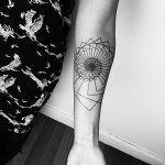 Arm Spiral Down Blackwork tattoo by Matt Matik Tattoo