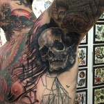 Armpit Graphic Skull tattoo