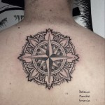 Back Dotwork Mandala North Star tattoo