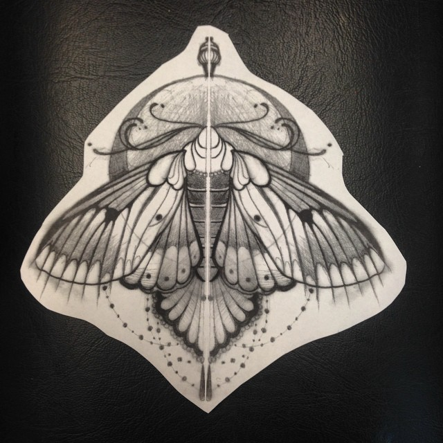 Baroque Moth tattoo idea by Jef Small