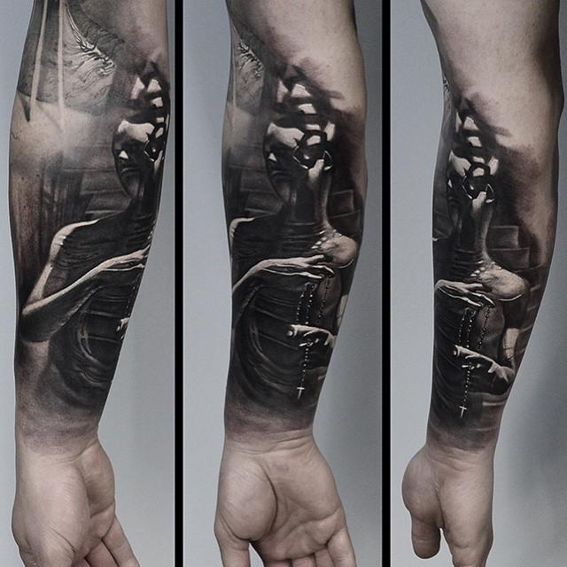 Beads Man Mind Blow Up Graphic tattoo by Tomasz TOFI Torfinski