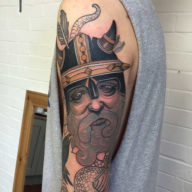 Beard Viking tattoo