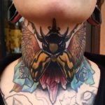 Bird Bug Neck tattoo
