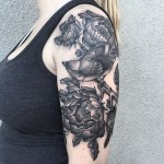Bird in Flowers Graphic tattoo by Jodi Lyford