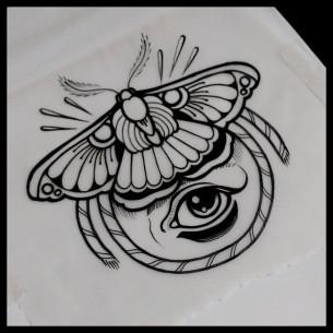 Black Moth Tattoo Idea