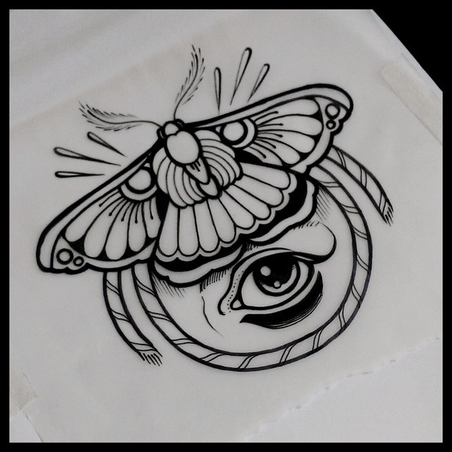 Black Moth Tattoo Idea