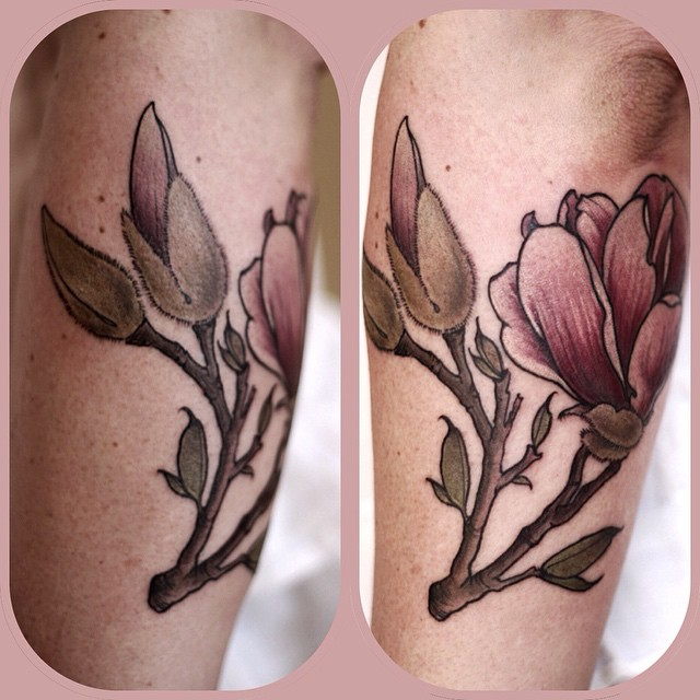 Bud Growing Flower tattoo