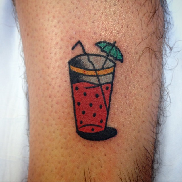 Cocktail Small Arm tattoo by Aaron Ashworth