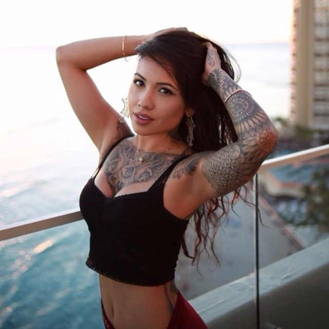 Cutie Ariana Valentina tattooed Girl