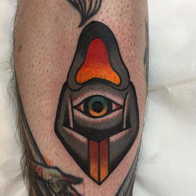 Dark Monk Leg tattoo