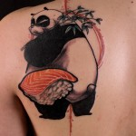 Disturbed Panda Shoulder Blade tattoo
